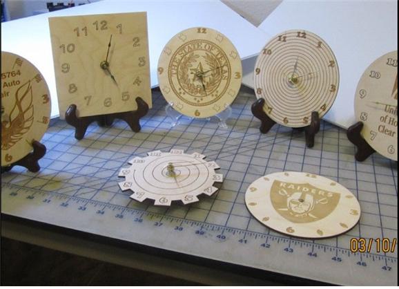레이저커팅 시계 만들기
